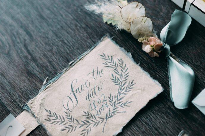 おしゃれな結婚式の招待状イメージ