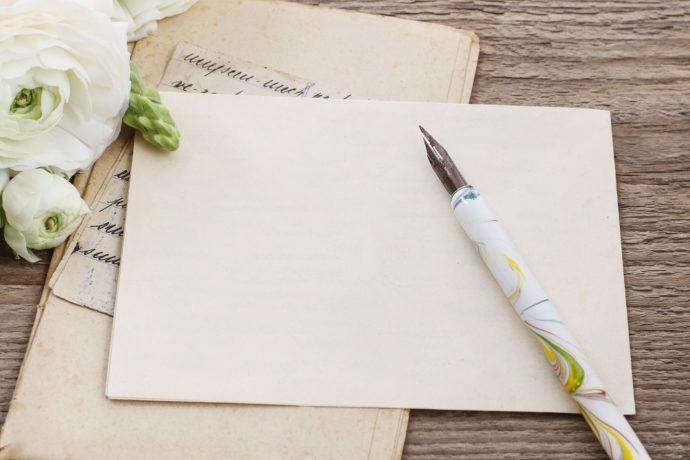 結婚式のお礼状を手書きで書くおしゃれな便箋