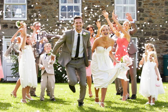 結婚式の新しい門出のイメージ