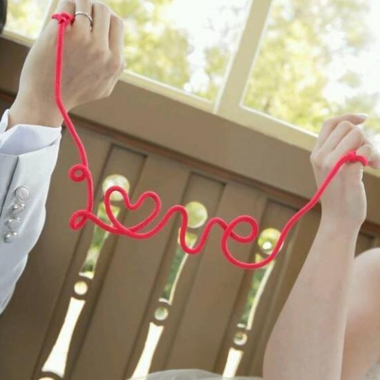 フォトプロップス【赤い糸/Love】