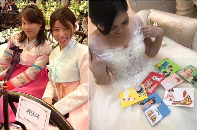 韓国の方との国際結婚。おしゃれな結婚式の演出