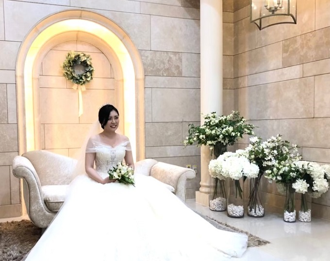 韓国の方との国際結婚。おしゃれな結婚式の様子